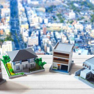 家の模型と街並み