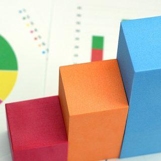 カラフルなブロックで作る棒グラフ