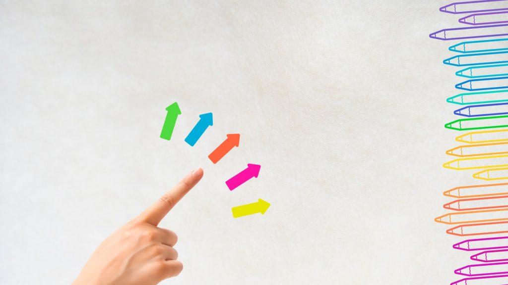 指差しで合う色を選ぶ
